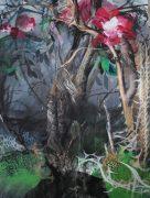Julius Hofmann, Japanischer garten, 2013, 200 x 145 cm, acryl on canvas