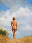 Duncan Hannah, Nude beach, 2013, 61 x 45 cm, oil on canvas