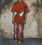 Spidey (portrait of Jonas), 2012 29 x 27,8 cm, oil on paper on panel