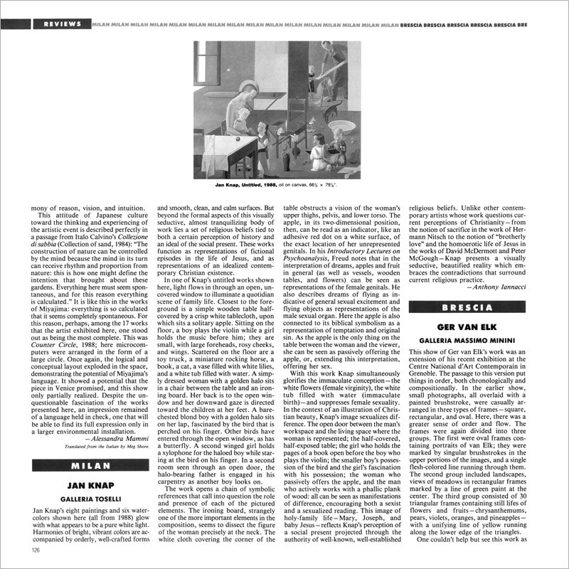 Jan Knap press reviews | Althuis Hofland Fine Arts
