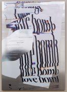 Hannah Perry, Love bomb, 2018, 209 x 150 cm, digital print, car body wrap, screeprint on aluminum