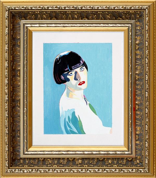 Marliz Frencken - Meisje met pagekapsel, 1989, 25 x 20 cm, oil on canvas