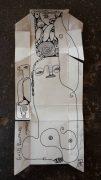 Isheanesu Dondo, Emotional Balance, 2018, unfolded cigarette pack