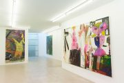 Exhibition view: 'A Myth, Amorph', with David Noro, Gareth Nyandoro, Rosa Loy and Pamela Bartlett, Althuis Hofland Fine Arts, Amsterdam, 2019