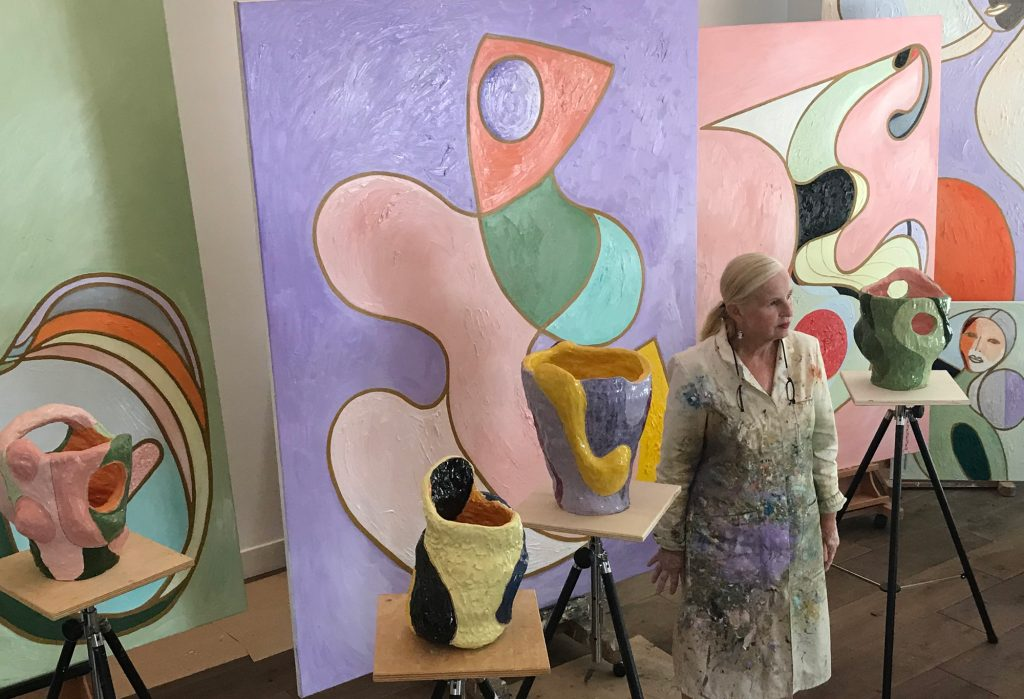 Marliz Frencken in her studio, 2019